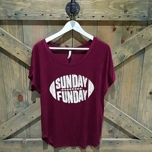 PINK BERRY MAROON SUNDAY FUNDAY CASUAL 2X TOP